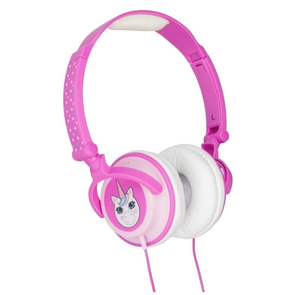 Dětská sluchátka MY DOODLES UNICORN, limitovaná hlasitost 85dB, 3,5 mm jack DDCRUNCHP