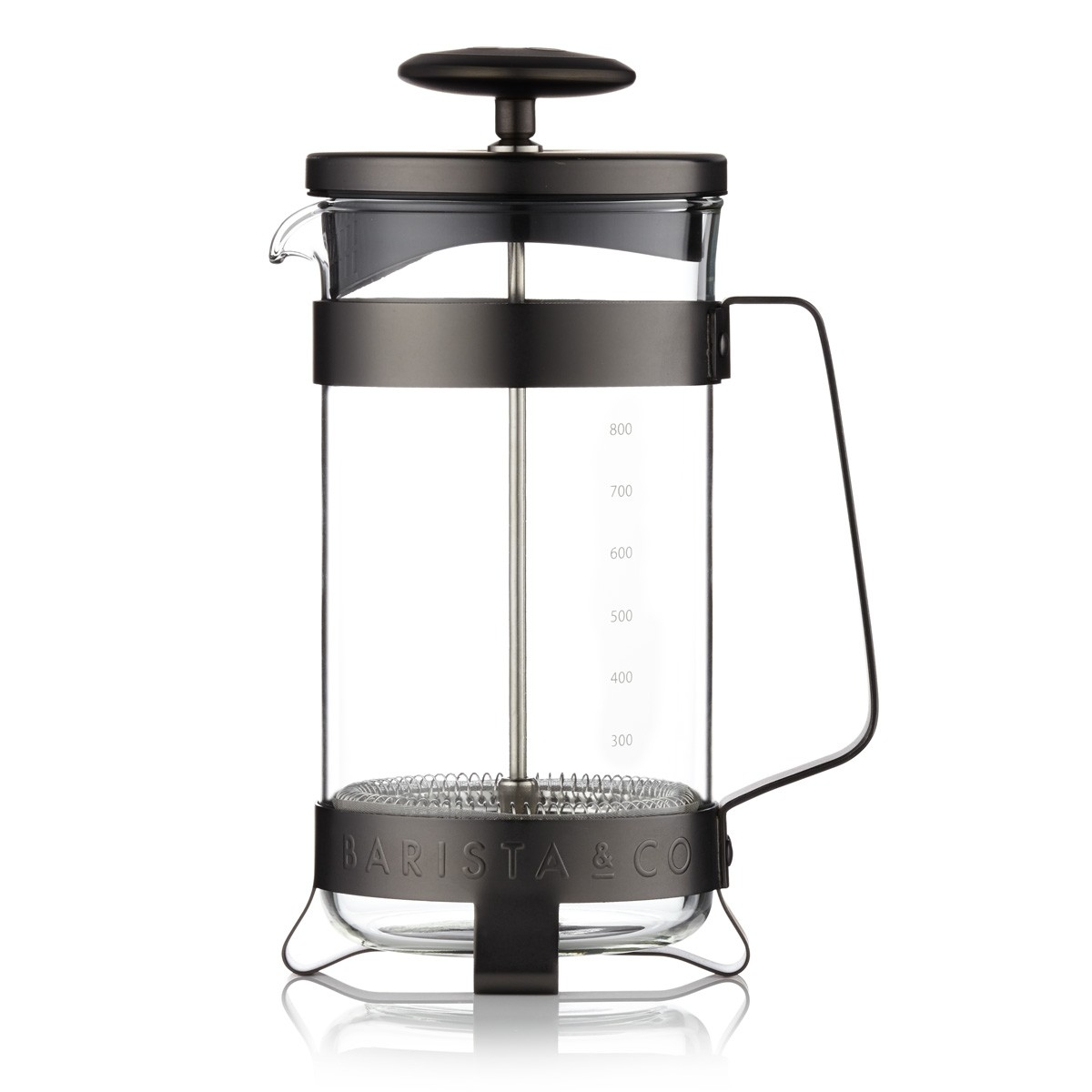 Barista & Co French press, 800 ml - Gunmetal