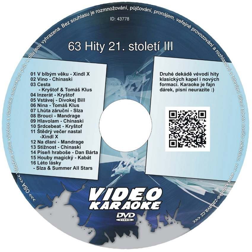 KARAOKE ZÁBAVA: Karaoke DVD 63 Hity 21. století III