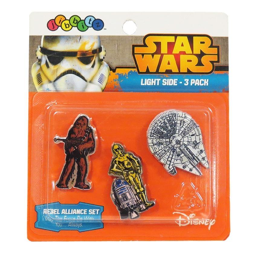 Jibbitz odznáčky na boty Crocs Star Wars Rebel Alliance Set Pack, 3ks