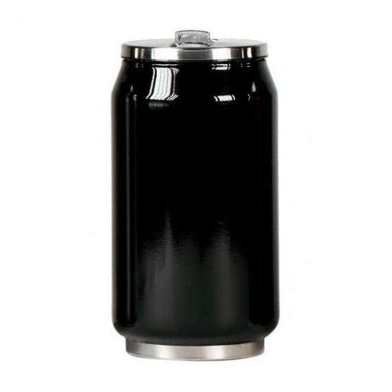 Yoko Design termohrnek ve stylu plechovky, 280 ml, leskle - černá