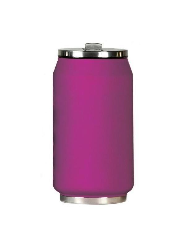 Yoko Design termohrnek ve stylu plechovky, 280 ml, matně - fialová