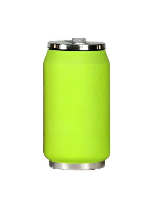 Yoko Design termohrnek ve stylu plechovky, 280 ml, matně - zelená