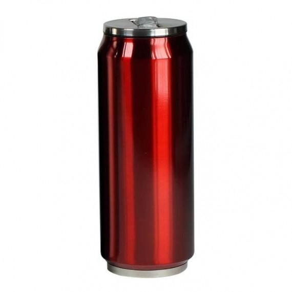 Yoko Design termohrnek ve stylu plechovky, 500 ml, leskle - červená