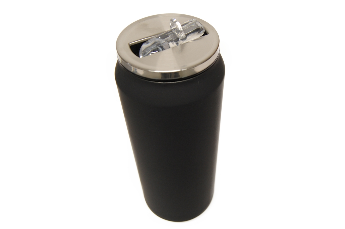 Yoko Design termohrnek ve stylu plechovky, 500 ml, matně - černá