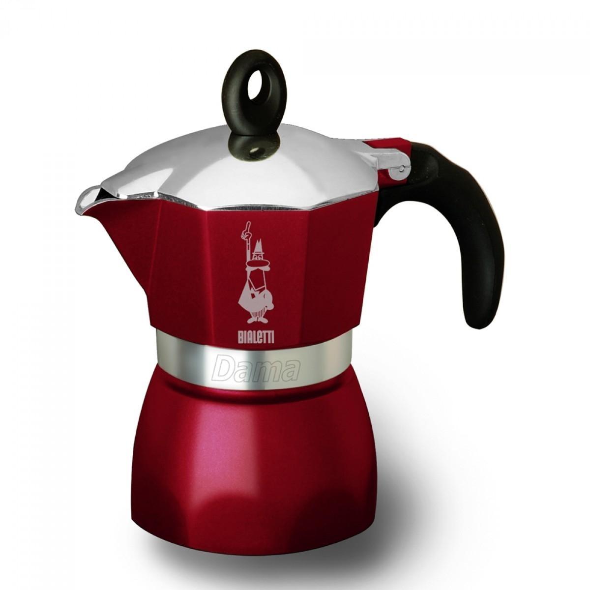Bialetti hliníkový kávovar Dama Glamour, 3 šálky - bordo