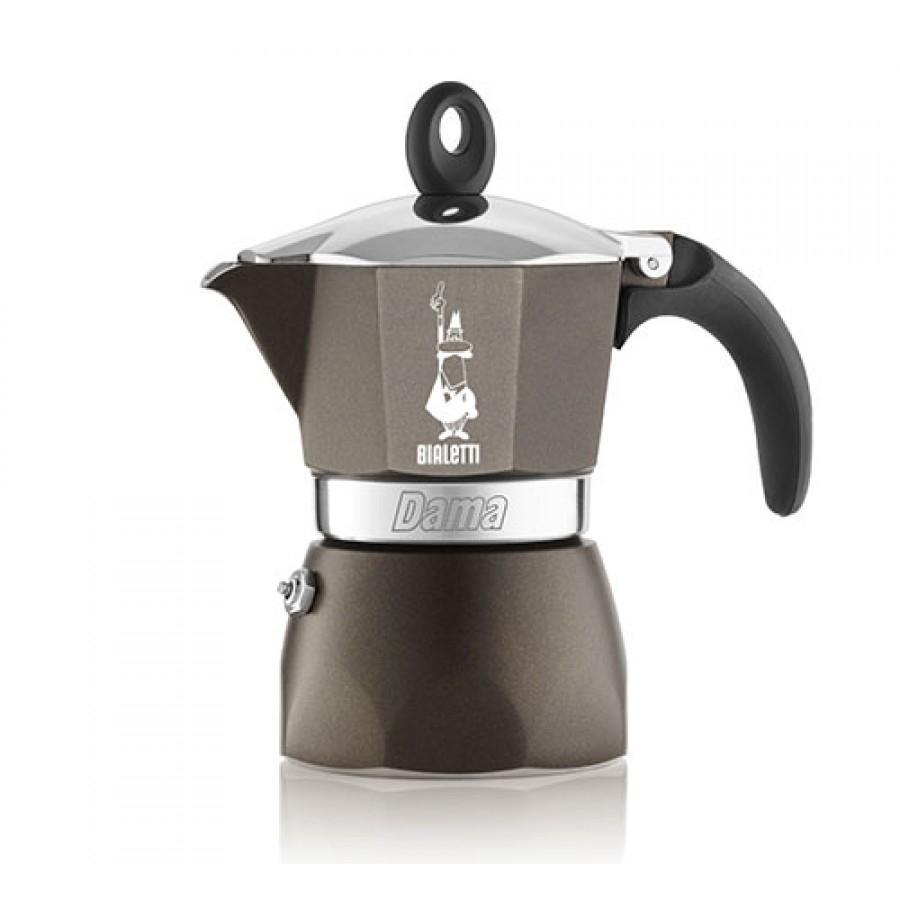 Bialetti hliníkový kávovar Dama Glamour, 3 šálky - šedý
