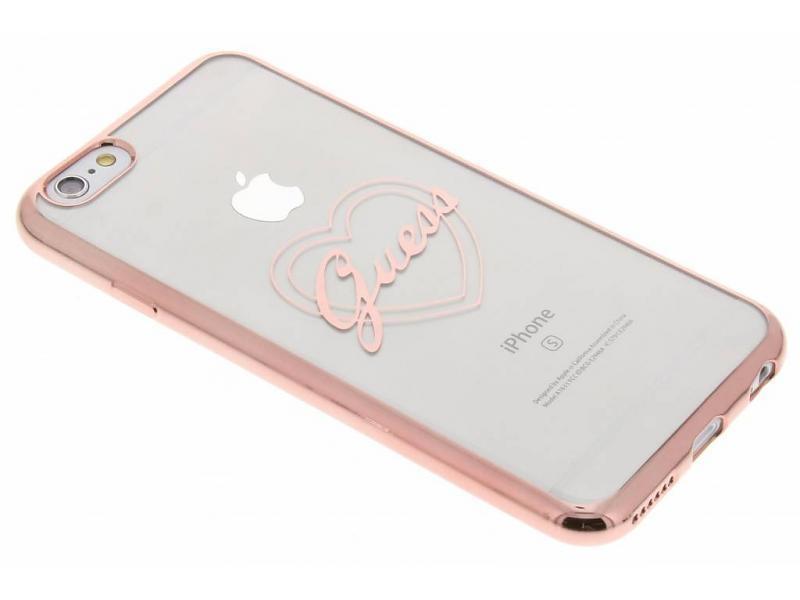 Zadní kryt Guess Signature Heart GUHCP6TRHRG pro iPhone 6/6S - růžovo-zlatý