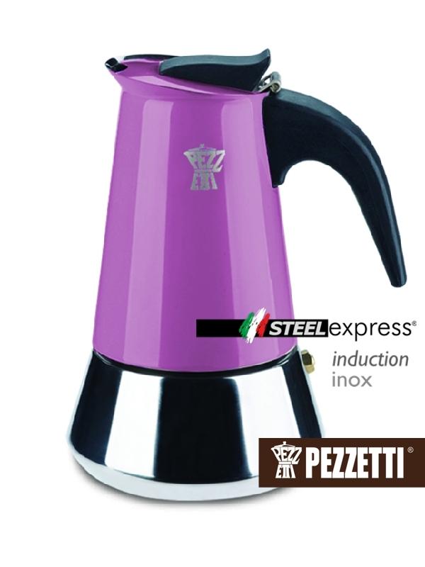 Pezzetti kávovar Steelexpress, 4 šálky - fialový