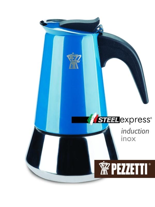 Pezzetti kávovar Steelexpress, 4 šálky - modrý
