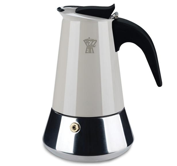 Pezzetti kávovar Steelexpress, 4 šálky - béžový