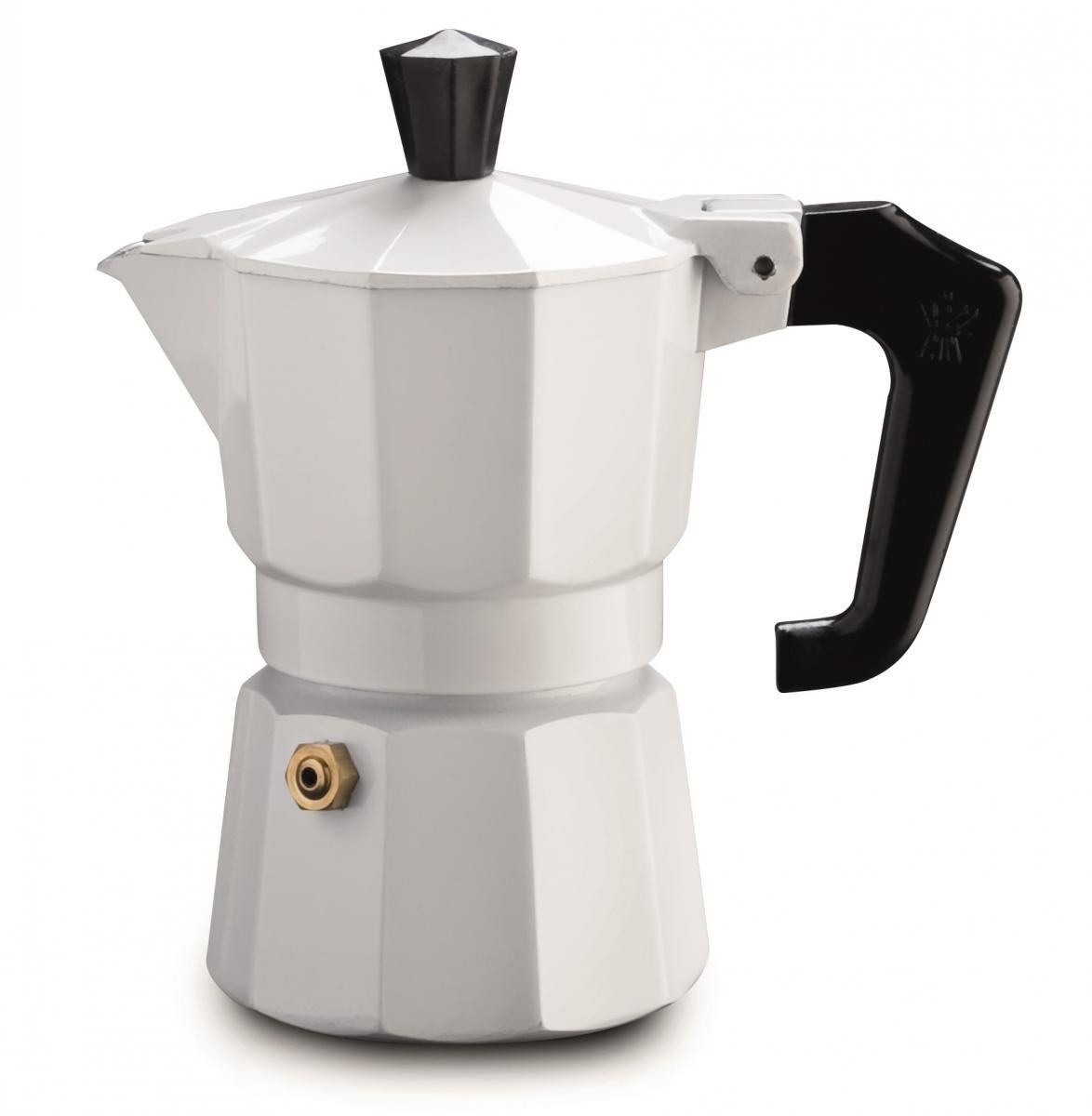 Pezzetti hliníkový kávovar Italexpress, 3 šálky - bílý