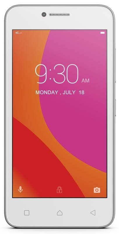 "Lenovo Smartphone B Dual SIM/4,5"" TN/854x480/Quad-Core/1,0GHz/1GB/8GB/5Mpx/LTE/Android 6.0/Bílý PA4R0031CZ"