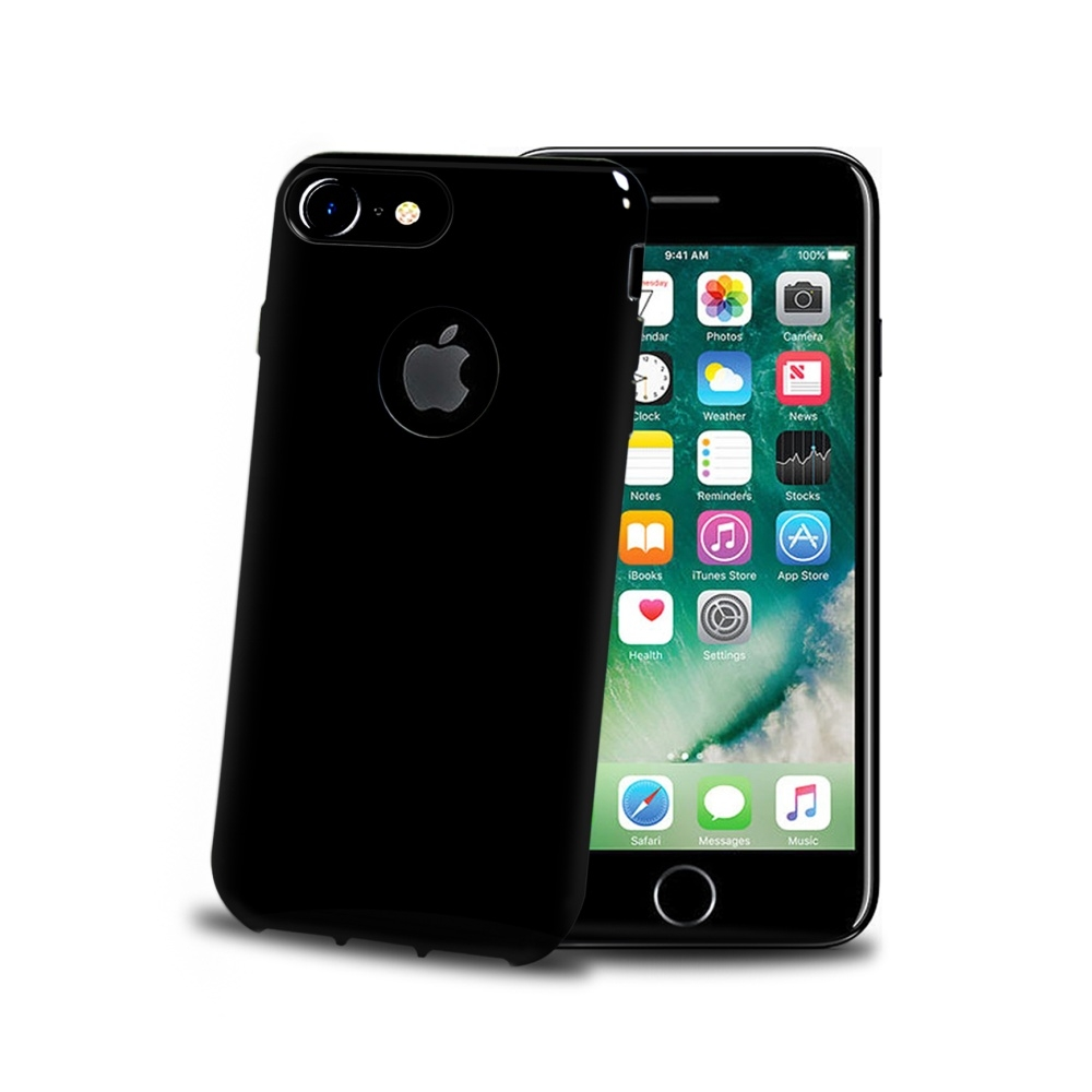Silikonový obal Celly Gelskin pro Apple iPhone 7/8 Plus, Black Edition GELSKIN801BE