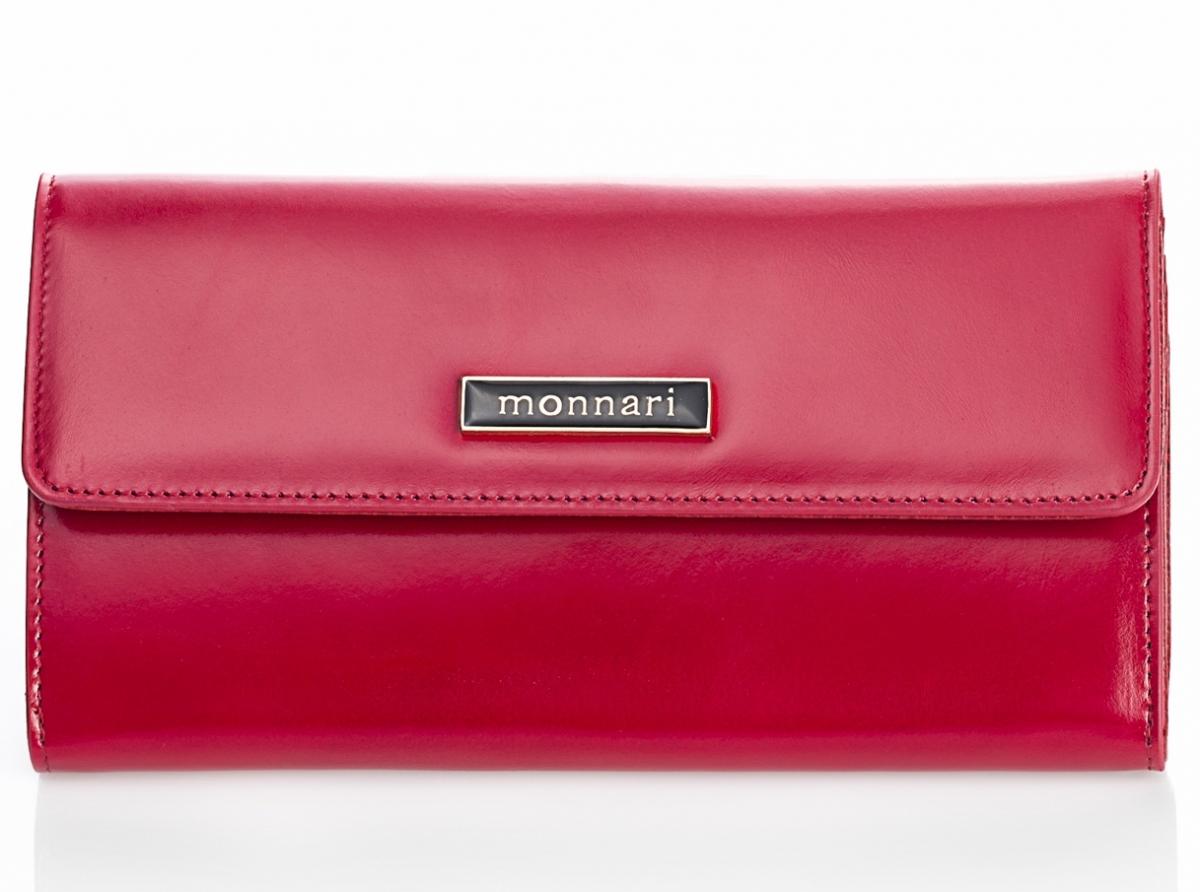 Dámská peněženka z pravé kůže Monnari 0100, červená