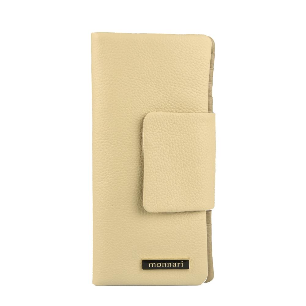 Dámská peněženka z pravé kůže Monnari 0290, béžová