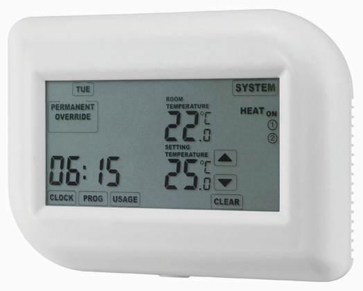 Programovatelný termostat Hutermann TE012T týdenní s dotykovým displejem