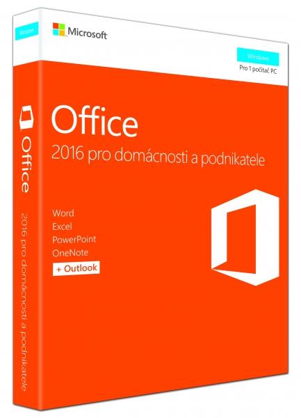 Office 2016 pro dom. a podnikatele CZ, P2 T5D-02737
