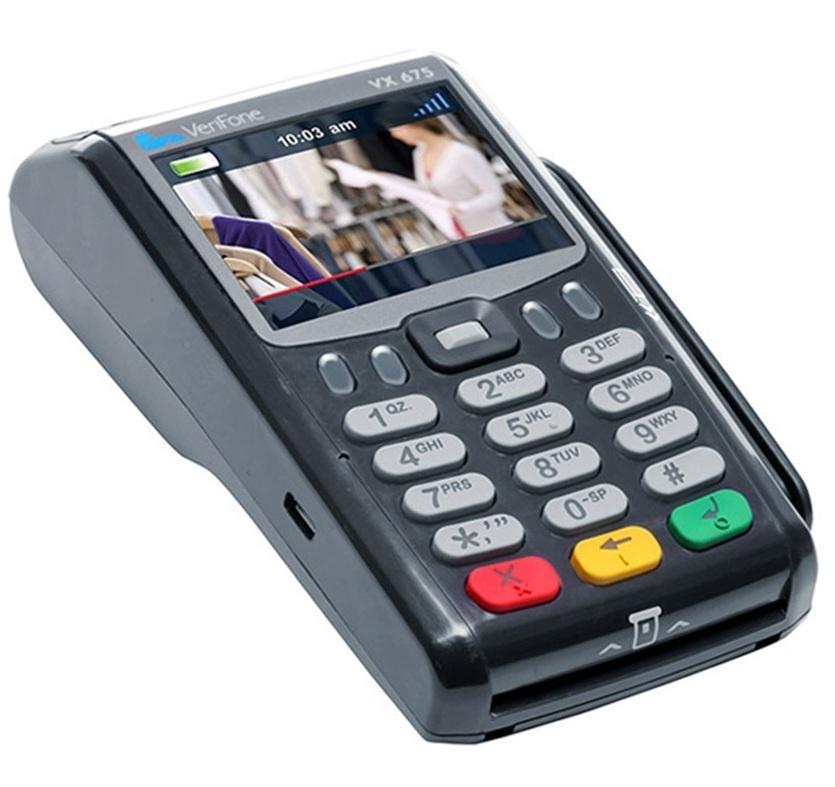 Přenosný pokladní systém s platebním terminálem X-POS Basic VX 675 s WiFi a Bluetooth připojením