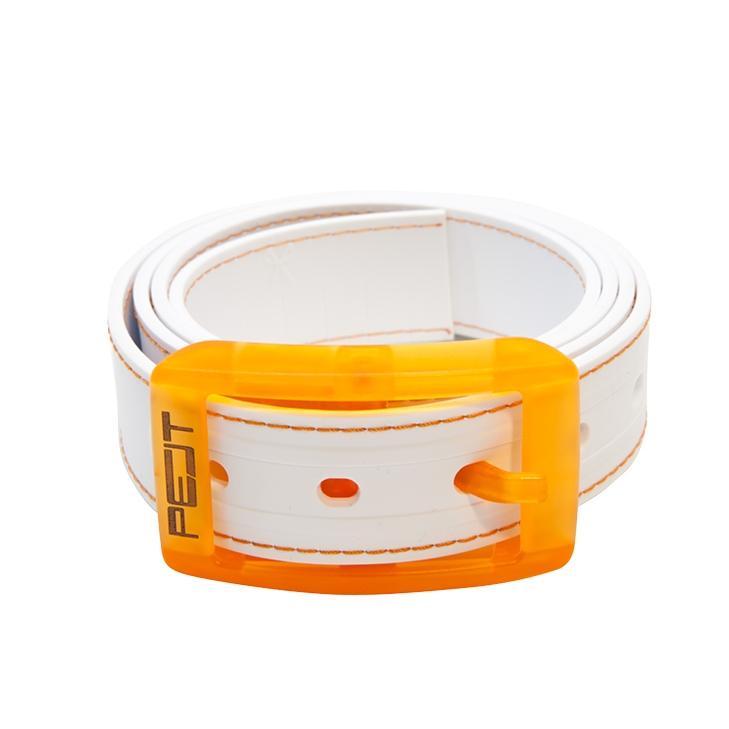 Pelt Stitch opasek s prošitím, bílo-oranžový