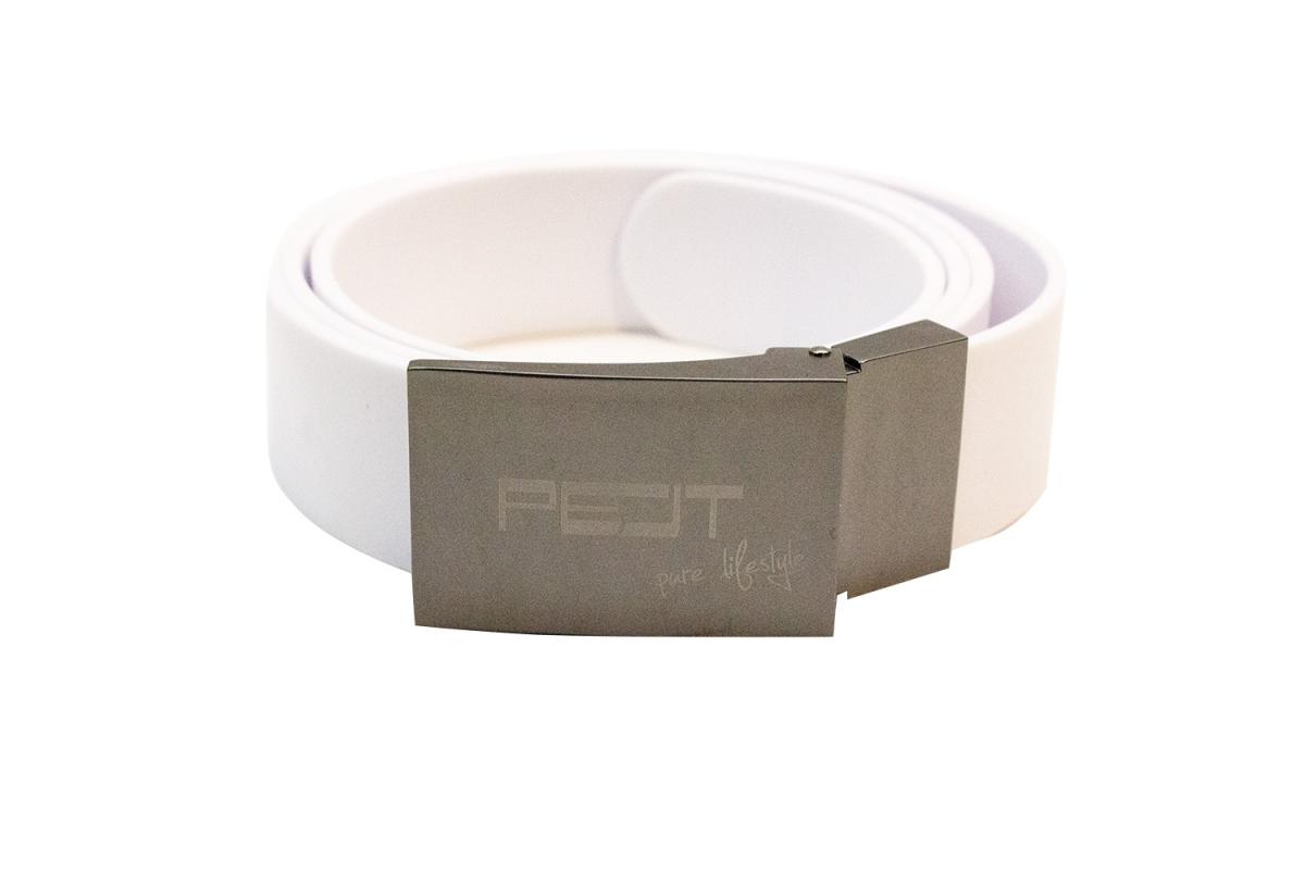 Pelt Professional opasek s kovovou přezkou, bílý