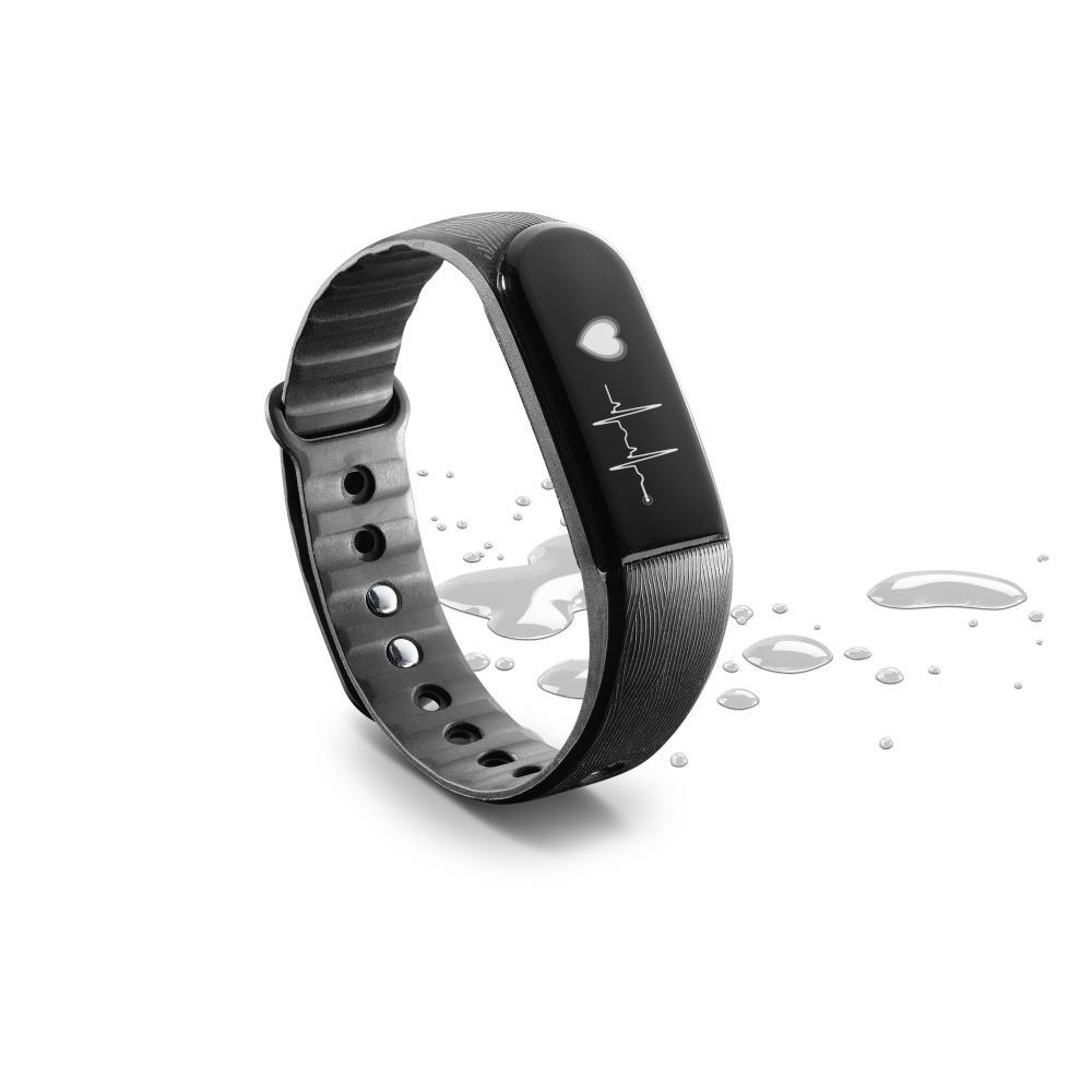 Bluetooth fitness náramek s monitorem srdečního tepu CellularLine EASYFIT TOUCH HR, černý BTEASYFITTOUCHHRK