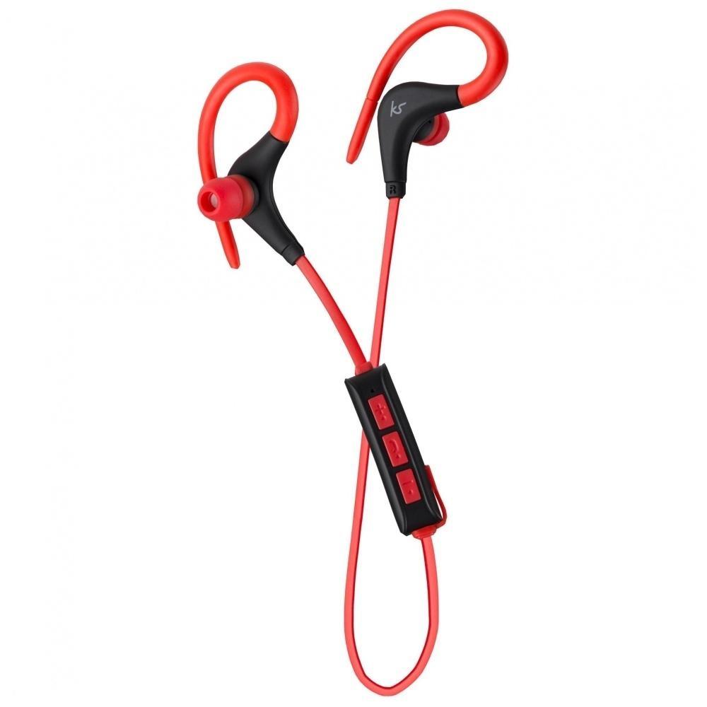 Sportovní bezdrátová sluchátka KitSound Race - červená KSRACRD