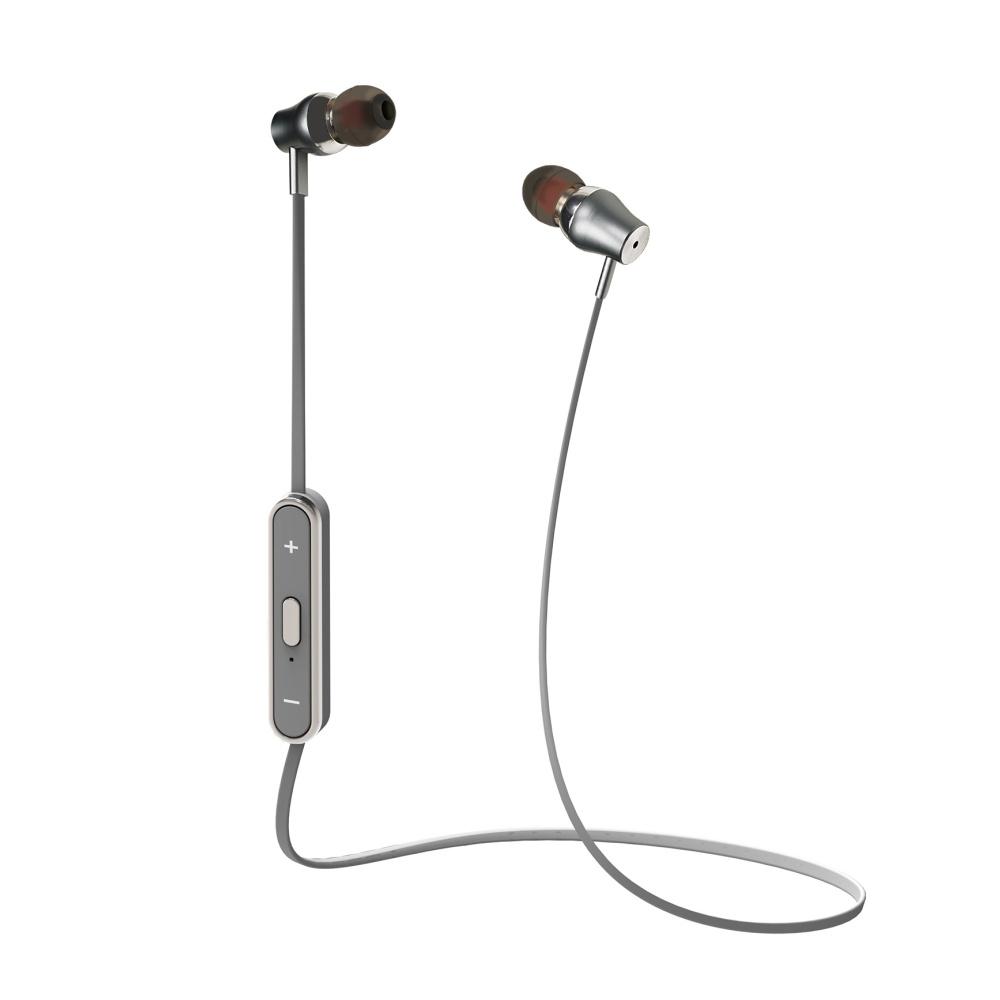 Bezdrátová sluchátka do uší Celly - stříbrná BTSTEREOSV