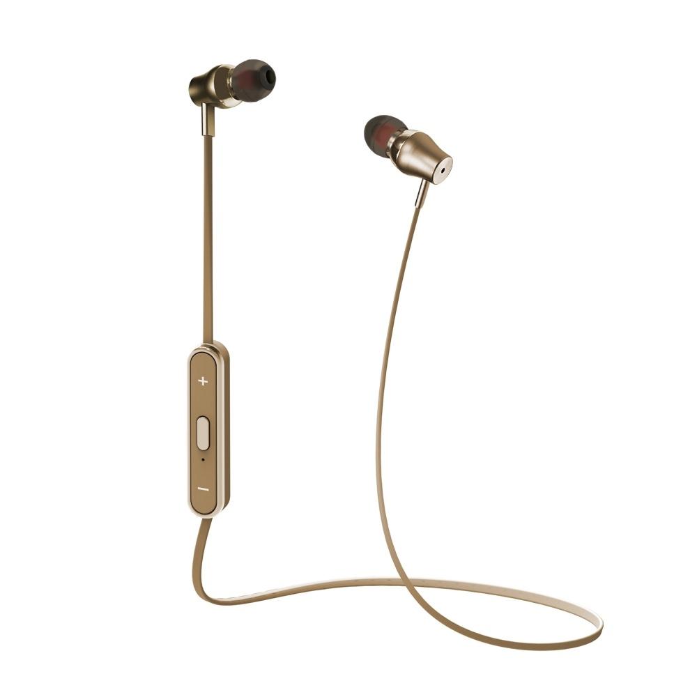 Bezdrátová sluchátka do uší Celly - zlatá BTSTEREOGD