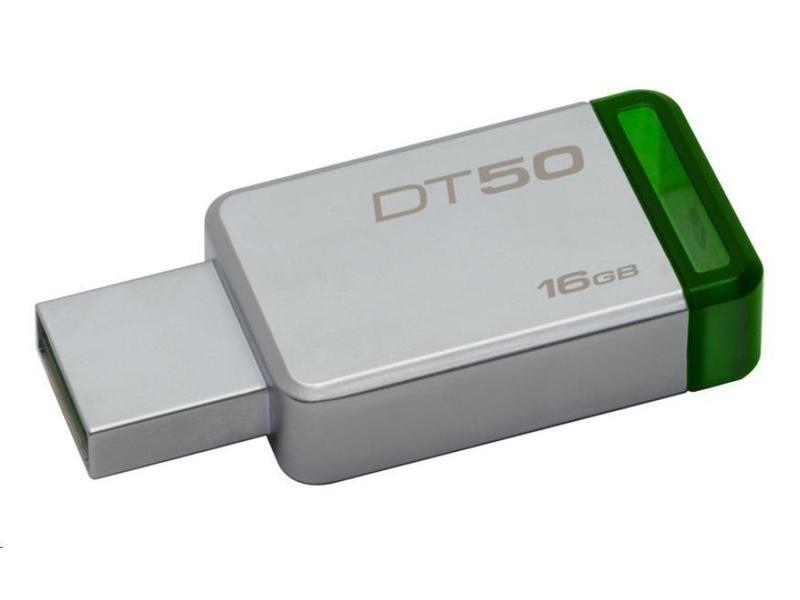 Trhák Kingston DT50 USB 3.1, 16GB - zelený DT50/16GB
