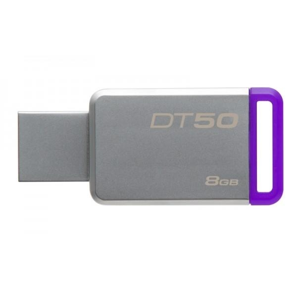 Kingston DT50 USB 3.1, 8GB - fialový DT50/8GB