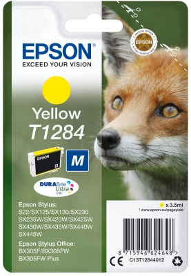 Yellow Ink Cartridge (T1284) C13T12844012