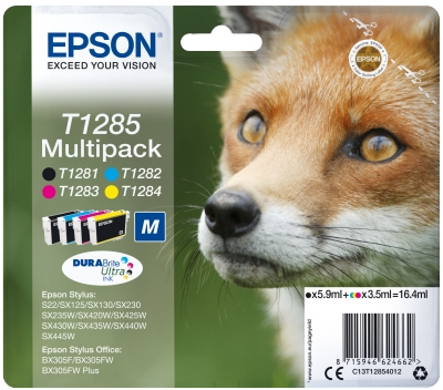 Multipack CMYK Ink Cartridge (T1285) - Originál C13T12854012