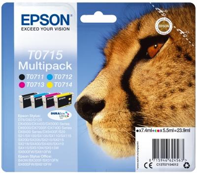 Epson Multipack 4-colours T0715 DURABrite UltraInk C13T07154012