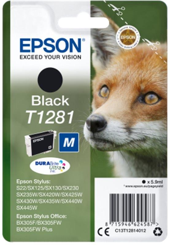 Epson Singlepack Black T1281 DURABrite Ultra Ink - Originál C13T12814012