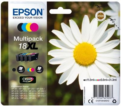Epson Multipack 4-colours 18XL Claria Home Ink - Originál C13T18164012
