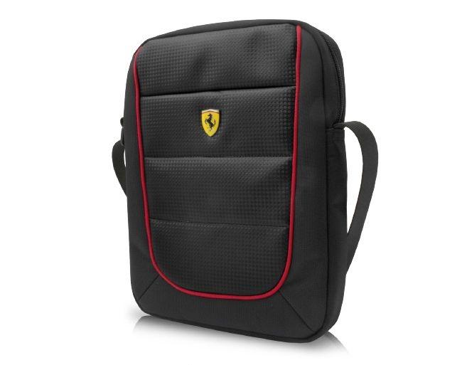 """Pánská taška Ferrari Scuderia s prostorem pro 10"""" tablet - černé FESH10BK"""