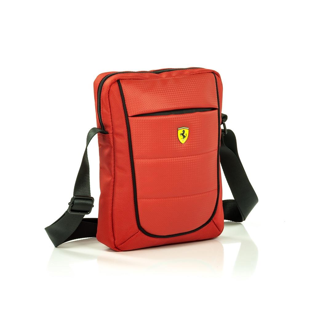 """Pánská taška Ferrari Scuderia s prostorem pro 10"""" tablet - červené FESH10RE"""