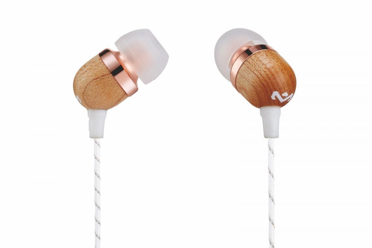 Sluchátka do uší s ovladačem a mikrofonem MARLEY Smile Jamaica Copper - měděná EM-JE041-CP