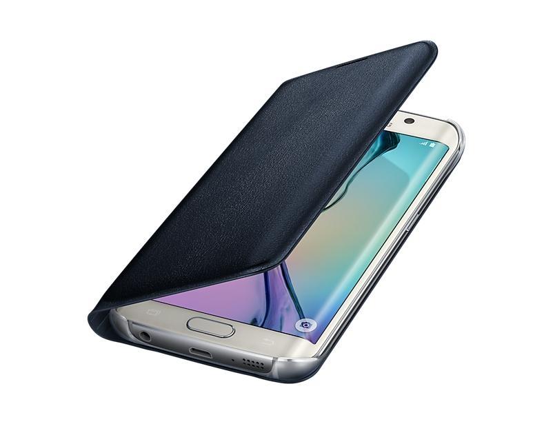 Originální flipové pouzdro s kapsou pro Samsung Galaxy S6 Edge, černé EF-WG925PBEGWW