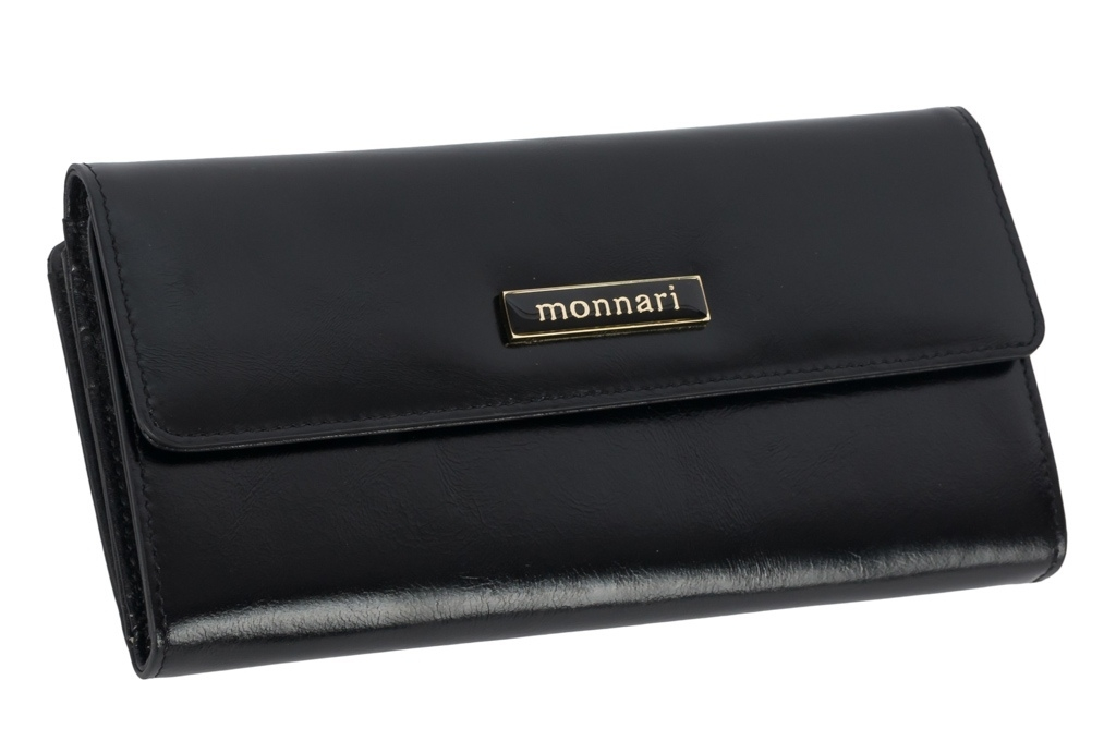 Dámská peněženka z pravé kůže Monnari 0100, černá