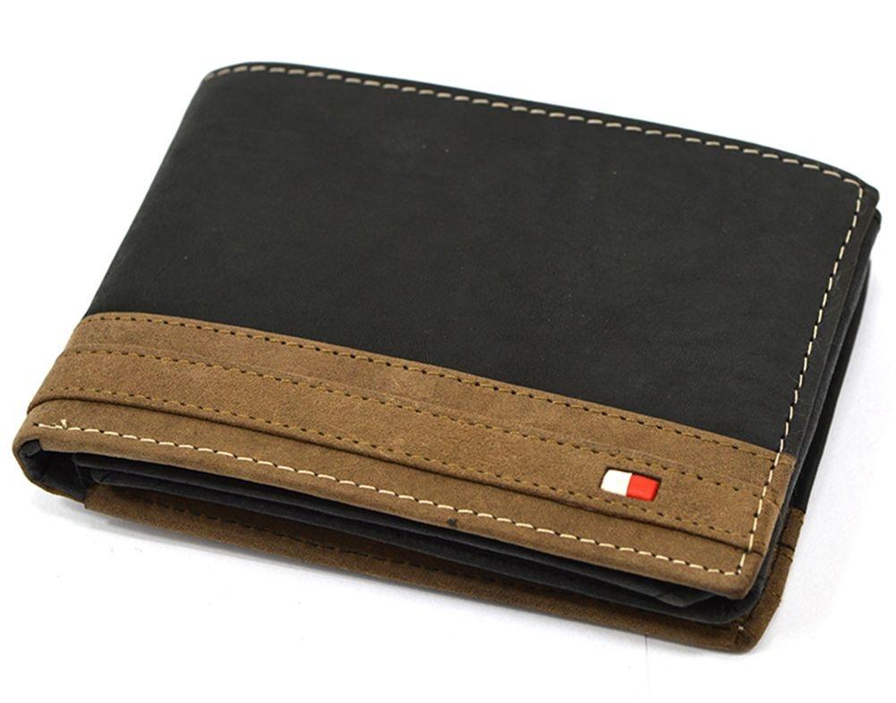 Pánská kožená peněženka Always Wild N992-R, černo-hnědá