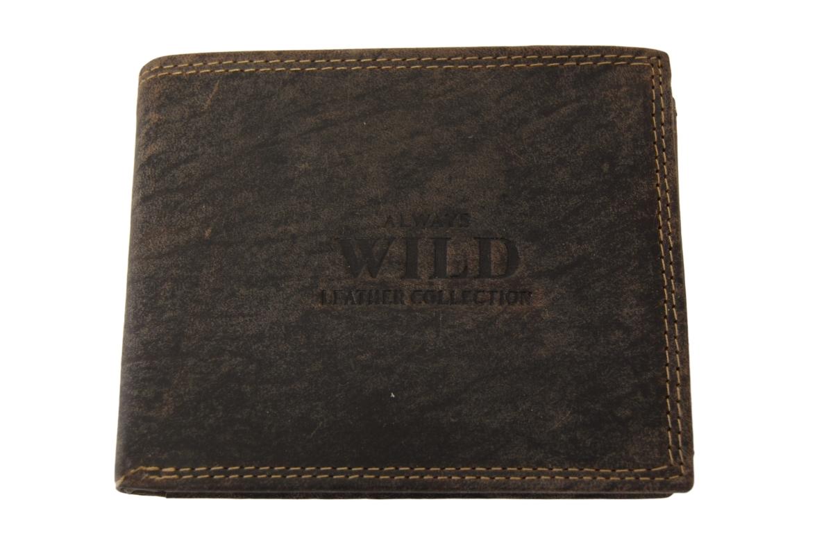 Pánská kožená peněženka Always Wild N992-MHU, hnědá