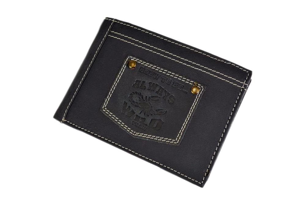 Pánská kožená peněženka Always Wild N992-BTB, černá