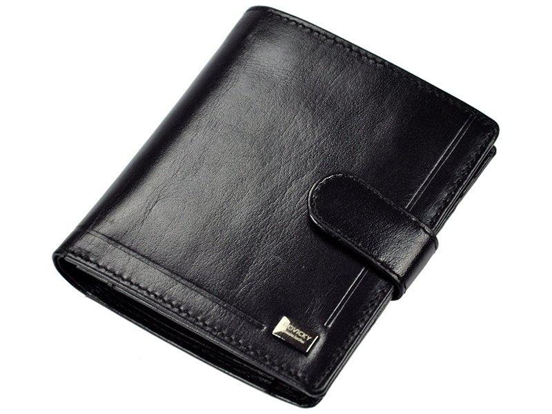 Pánská kožená peněženka Rovicky PC-106, černá