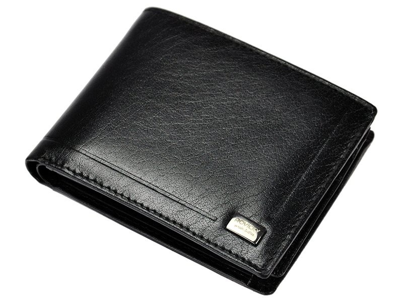 Pánská kožená peněženka Rovicky CPR-021, černá