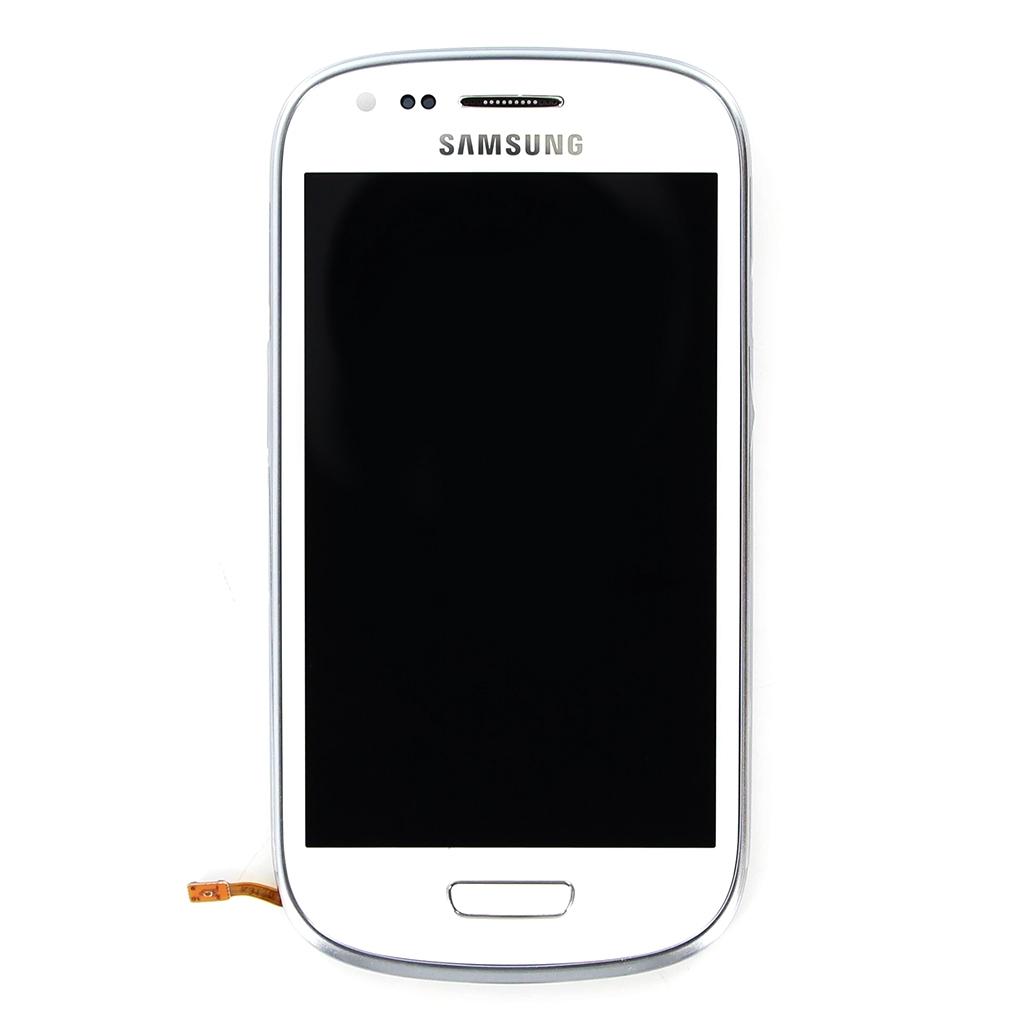 LCD display + Dotyk + Přední kryt Samsung i8190 Galaxy S3mini White (Service Pack)