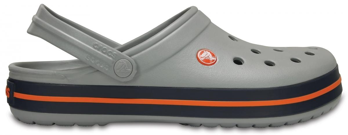 Crocs Crocband - Light Grey/Navy, M8/W10 (41-42)