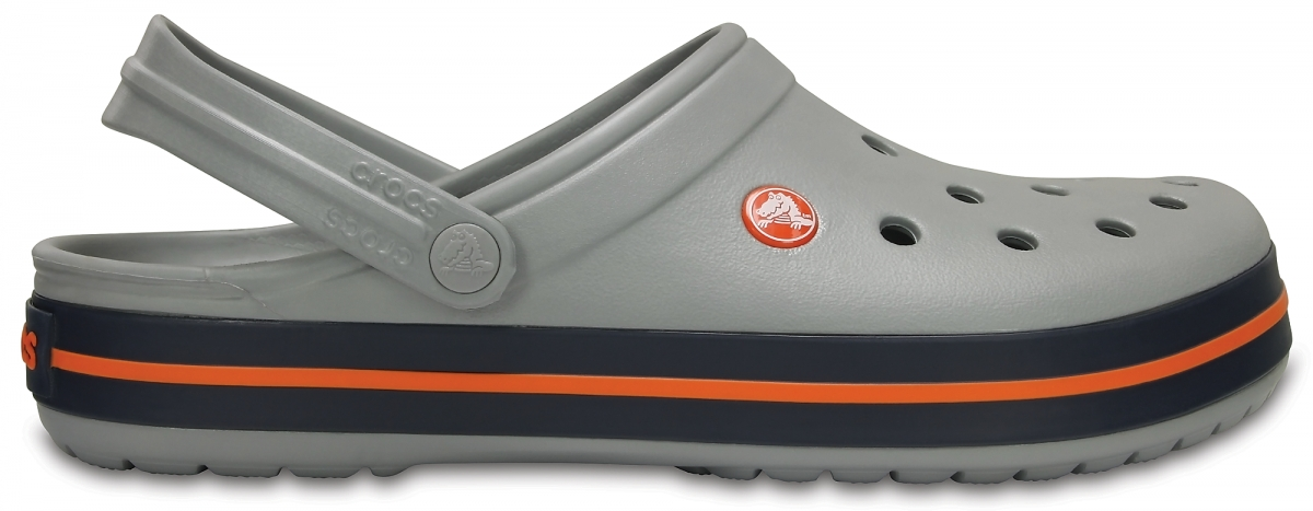 Crocs Crocband - Light Grey/Navy, M12 (46-47)
