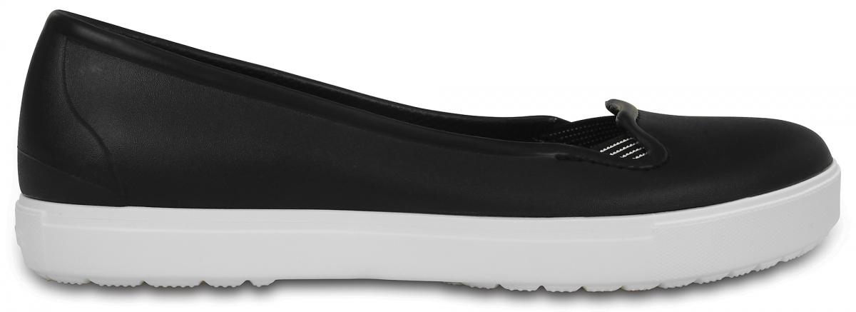 Crocs CitiLane Flat - Black/White, W8 (38-39)